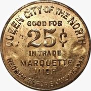 25 cents - Marquette, Michigan – revers