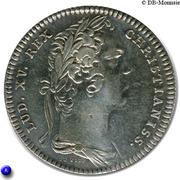 Louis XV - Late cuncta profundit – avers