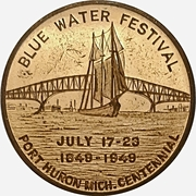 Token - Blue Water Festival (Port Huron, Michigan) -  avers