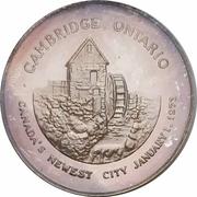 Medal - Cambridge, Ontario (Canada's Newest City) – revers