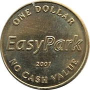 1 Dollar - EasyPark (Vancouver, British Columbia) – avers