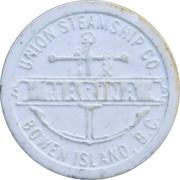 Token - Doc Morgan's Inn / Union Steamship Co. (Bowen Island) – revers