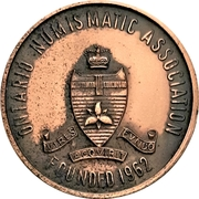 Medal - Ontario Numismatic Association Convention 1968 (Kitchener, Ontario) – avers