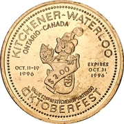 2 Dollars - Kitchener-Waterloo, Ontario (Oktoberfest) – avers