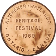 Token - Heritage Festival (Kitchener-Waterloo, Ontario) – revers