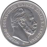20 Mark - Wilhelm Deutscher Kaiser, König v. Preussen – avers