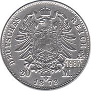 20 Mark - Wilhelm Deutscher Kaiser, König v. Preussen – revers