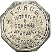 1 Dollar - F. Krug (Tavistock, Ontario) – avers