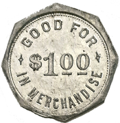 1 Dollar - F. Krug (Tavistock, Ontario) – revers