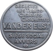 5 centimes VanDer Elst  - Timbre monnaie – revers