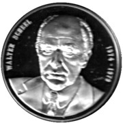 Token - Chancellors and Presidents of Germany (Walter Scheel) – avers