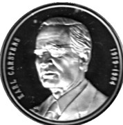 Token - Chancellors and Presidents of Germany (Karl Carstens) – avers