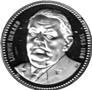 Token - Chancellors and Presidents of Germany (Ludwig Erhard) – avers