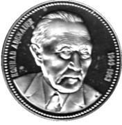 Token - Chancellors and Presidents of Germany (Konrad Adenauer) – avers