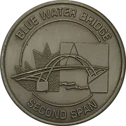 Token - Blue Water Bridge – avers