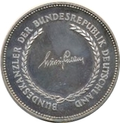 Token - Chancellors and Presidents of Germany (Ludwig Erhard) – revers