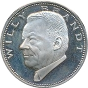 Token - Chancellors and Presidents of Germany (Willy Brandt) – avers