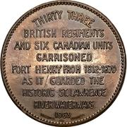 Token - Old Fort Henry (Kingston, Ontario) – revers