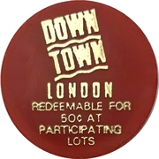 50 cents Parking token - Downtown London (Ontario) – avers