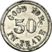 50 cents - George McKnight (Magnetawan, Ontario) – revers