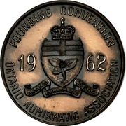 Medal - Ontario Numismatic Association Convention 1962 (Kitchener,  Ontario) – revers