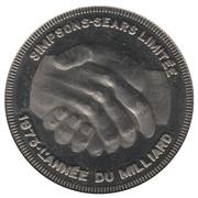 Simpsons-Sears (année du milliard, version française) – avers