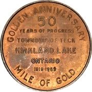 Souvenir token - Township of Teck (Kirkland Lake, Ontario) – revers