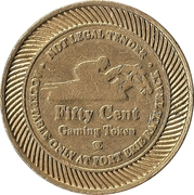 50 Cent Gaming Token - Fort Erie Race Track – avers