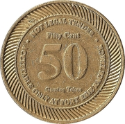 50 Cent Gaming Token - Fort Erie Race Track – revers
