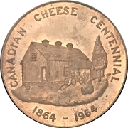 Medal - Canadian Cheese Centennial (Norwich, Ontario) – avers