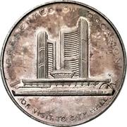 Souvenir token - Toronto City Hall – revers