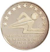 Championnats d'Europe de natation jeunesse Genève – avers