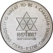 Medal - Canadian Centennial (Canadian Progress Club) – avers