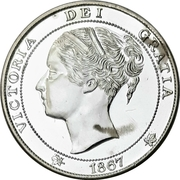 Medal - Canadian Confederation Centennial – avers