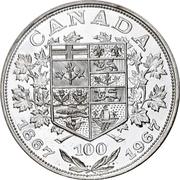 Medal - Canadian Confederation Centennial – revers