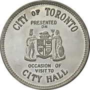 Token - Toronto City Hall – avers