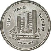 Token - Toronto City Hall – revers