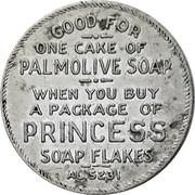 Token - 1 Cake of Palmolive Soap (Toronto, Ontario) – avers