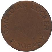 Jeton de case Canadian Locker Company (3 fentes) – avers