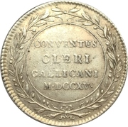 """Assemblé du clergé """"Gallicani"""" – revers"""