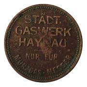 Token - Stadt Gaswerk Haynau – avers