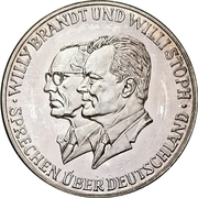 Medal - Willy Brandt / Willi Stoph – avers