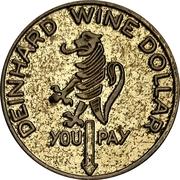 Spinner Token - Deinhard Wine Dollar (Coblenz) – avers