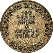 Spinner Token - Deinhard Wine Dollar (Coblenz) – revers