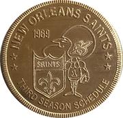 Token - New Orleans Saints (Third Season Schedule) – avers