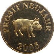 New Year token (Prosit Neujahr) – revers