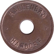 Public swimming pool token - Handorf (adult) – avers