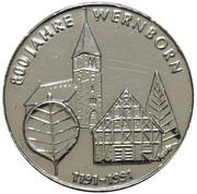 Token - Wernborn (800 Year Celebration) – avers