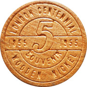 Canadian Wooden Nickel – revers