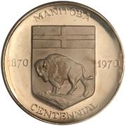 Medallion - Manitoba Centennial – avers
